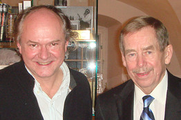 Jiri Zizka, left, and Vaclav Havel, right.