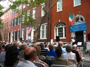 Actres Drucie McDaniel reads at Bloomsday