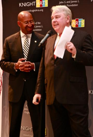 Mayor Nutter, City of Philadelphia; Denis Scholl Knight Arts Vice President