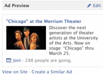 Make sure friends of your fans can see your ad.