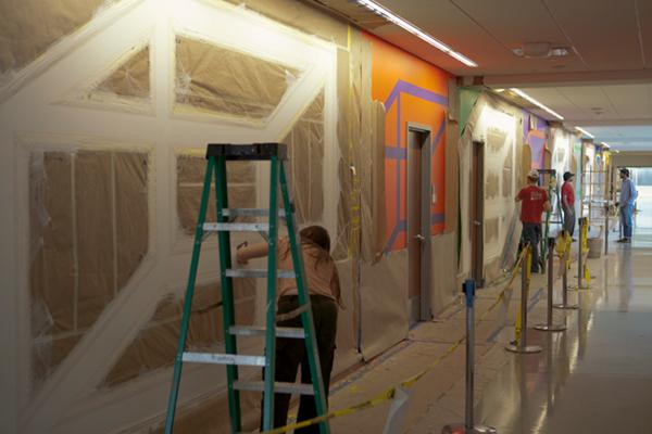 Sol LeWitt Wall Drawing Installed at Einstein Medical Center